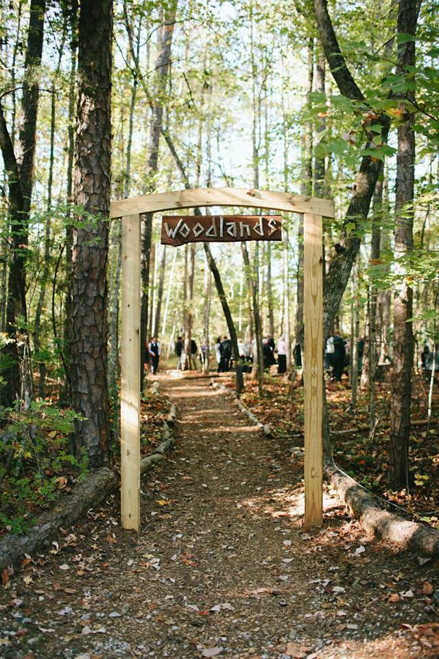 entrance to the woodland ceremony site